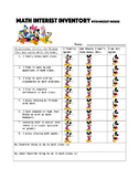 Mickey Mouse Math Interest Inventory