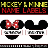 Mickey Mouse & Minnie Mouse Name Labels