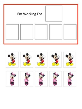 Mickey Mouse & Minnie Mouse Token Board