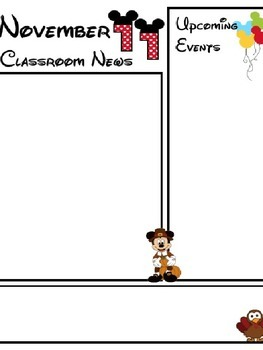 Mouse Monthly Classroom Newsletter