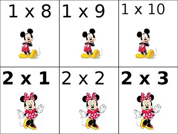 Mickey Mouse Multiplication