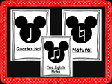 Mickey Mouse Music Symbols