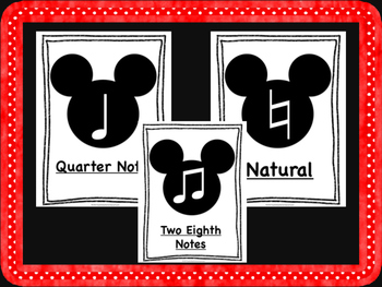 Mickey Mouse Music Symbols