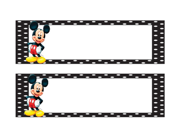 Mickey Mouse Name Tags