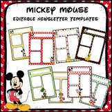 Mickey Mouse Newsletter Templates- EDITABLE