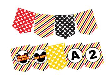 Mickey Mouse Pattern Pennant Banner by Learning Clubhouse ...