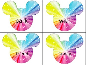 Mickey Mouse Rainbow Words