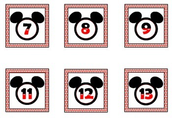 Mickey Inspired Red Polkadot Calendar Set