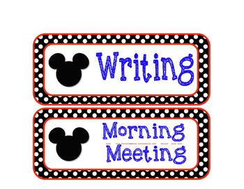 Mickey Mouse Schedule