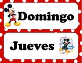 Mickey Mouse Spanish Days of the Week