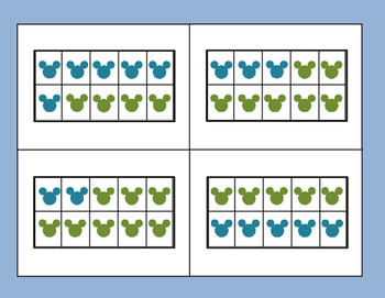 Mickey Mouse Ten Frame Addition Game