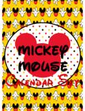 Mickey Mouse Theme Calendar Math Set