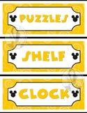 Mickey Mouse Theme Classroom Labels - Word Wall - 51 Words