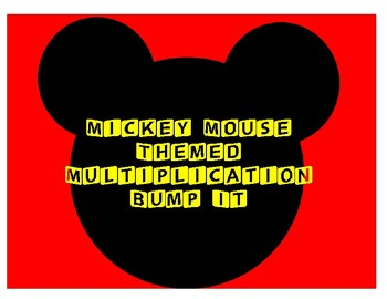 3rd Grade Mickey Mouse Themed Multiplication Bump It Math Game - 2's, 3's, 4's