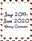 Mickey Mouse Themed Weekly Calendars 2018-2019