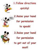 Mickey Mouse Whole Brain Teaching Poster
