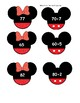 Mickey Mouse and Minnie Mouse Themed Place Value Matching