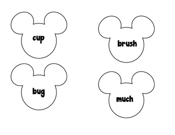 Mickey Mouse long and short vowel practice