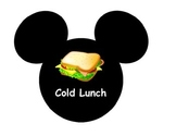 Mickey Mouse lunch Labels
