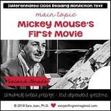 Mickey Mouse's First Movie Reading Comprehension Passage | Differentiated