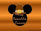 Mouse Ears Thanksgiving Calendar