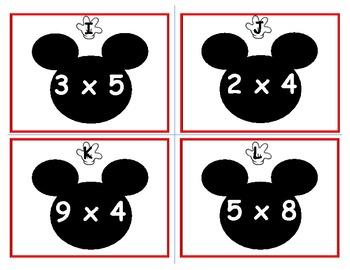 Mickey Multiplication Scoot Disney