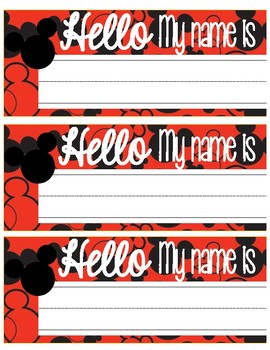 Mickey Name Tags