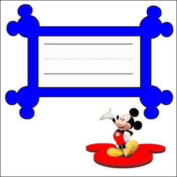 Mickey Name Tags in Blue