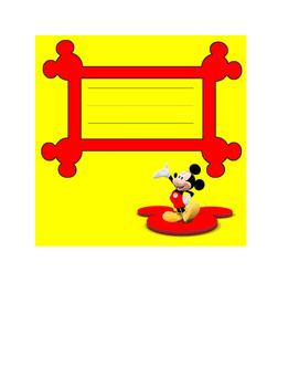 Mickey Name tags