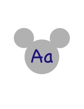 Mickey Navy Blue Silver Letters