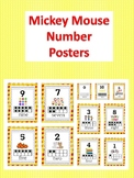 Mickey Mouse Inspired Number Printable