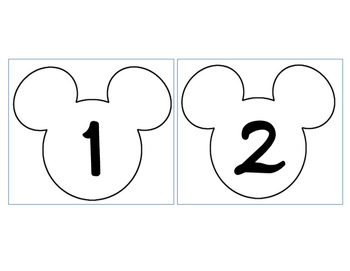 Mickey Numbers 1-35 Outline