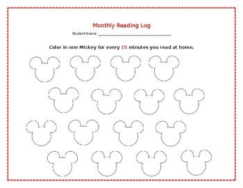 Mickey Reading Log