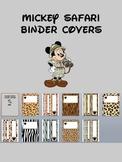 Mickey Safari Animal Print Binder Cover Printables
