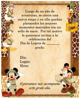 Mickey Safari Invitation Editable!!!!