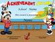 Mickey Sailor Boat Achievement Award English & Spanish ver