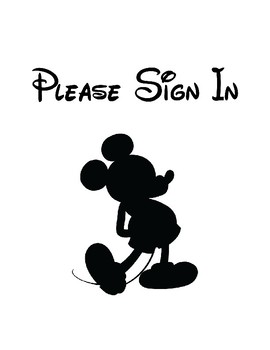 Mickey Sign in Sheet