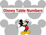 Mickey Table Numbers