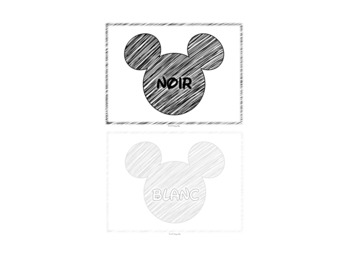 Mickey Theme French Colors Posters
