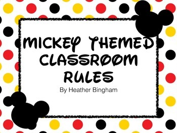 Cartoon Mouse Themed Classroom Rules