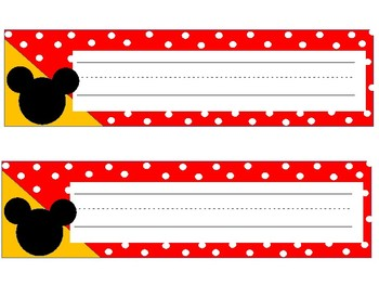 Mickey Themed Desk Name Plates