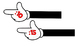 Mickey Themed Minute Clock Hands