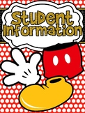 Mickey Themed Red Polkadot Student Information Binder