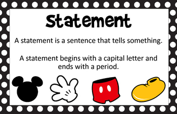 Mickey Themed Sentence Posters