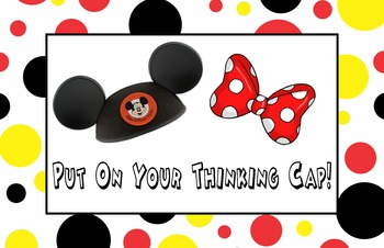 Mickey Thinking Cap Poster