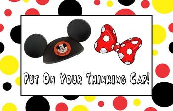 Mickey Thinking Cap Poster