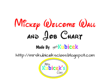 Mickey Welcome Wall and Job Chart