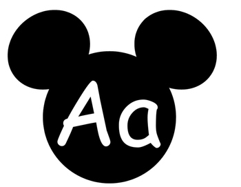 Mickey Word Wall **White