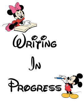 Mickey Writing In Progress for Writing Wall