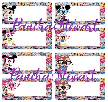 Mickey and Friends Nerds Name plates